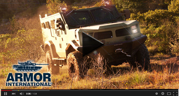 armored tactical vehicle video